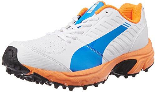Puma Illuminate DP Cricket Shoe, Electric Blue Lemonade/White, Size UK 7/US 8