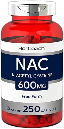 Horbaach (NAC) N Acetyl Cysteine 600 mg 250 Capsules | Non-GMO, Gluten Free Supplement