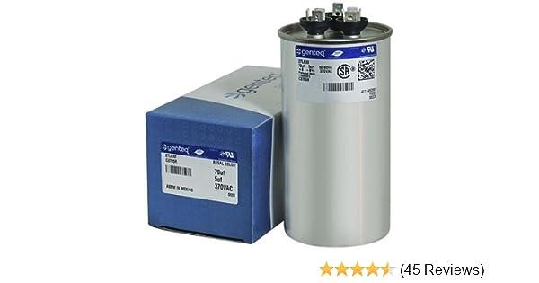 45//5 uf MFD 370//440 Volt VAC ClimaTek Round Capacitor fits Standard # CPT656