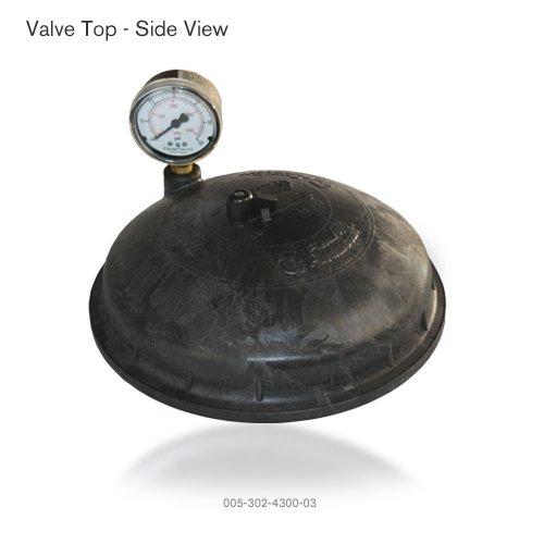 - Paramount Water Valve Top with Pressure Gauge (Black)
