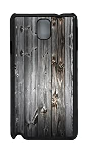 Gray Wood Background PC Case and Cover for Samsung Galaxy Note 3 Note III N9000 Black