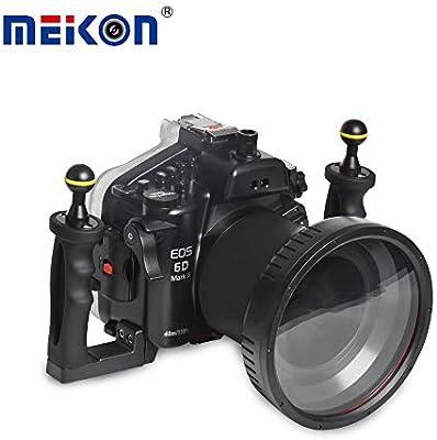 Meikon - Funda para cámara de Buceo Nikon Canon, Sumergible hasta ...