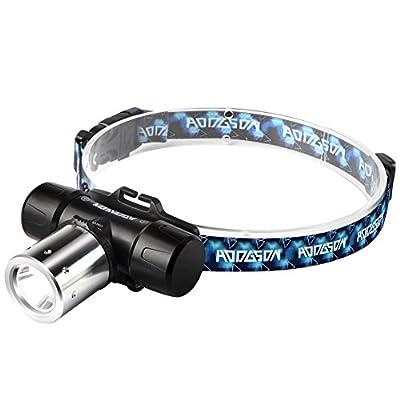 HODGSON Cree LED Headlamp, Super Bright Waterproof USB Rechargeable Headlight Flashlight Ideal for Walking, Camping, Reading, Hiking, Fishing, Hunting