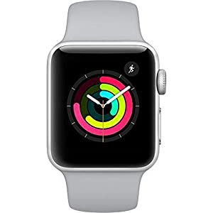 Apple Watch Series 3 (GPS, 38MM) – Silver Aluminum Case with White Sport Band (Renewed)
