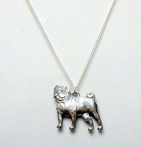 Amazon com: Pug dog necklace (1507): Handmade