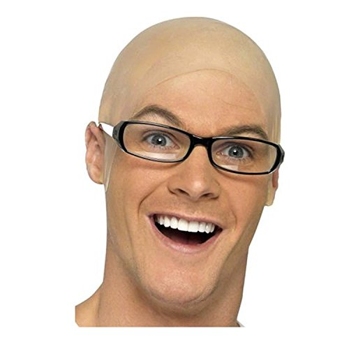 Unisex Bald Head Skull Latex Rubber Skinhead Cap Wig Fancy Dress Accessory by Bristol -