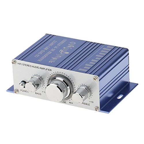 MagiDeal 12V Hifi Stereo Audio Amplifier Speaker Phone PC MP