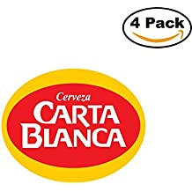 Carta Blanca 2 Beer Logo Alcohol 4 Vinyl Stickers Decal Bumper Window Bar Wall 4X4