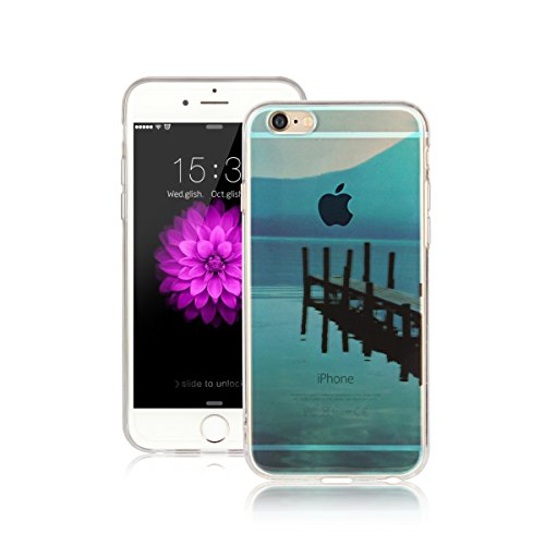 Für Apple iPhone 6 Plus / iPhone 6S Plus (5.5 Zoll) Hülle ZeWoo® TPU Schutzhülle Silikon Tasche Case Cover - AK006 / blaue See