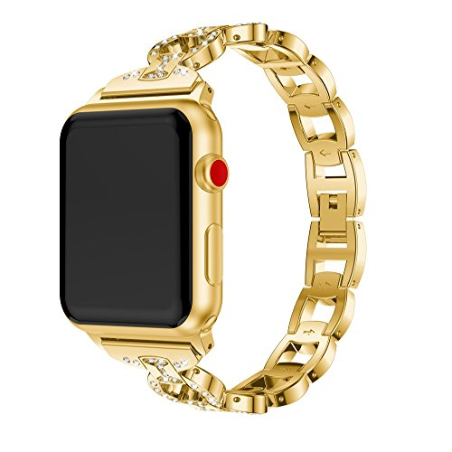 Sweet Diamonds Bracelet (Sunbona 38mm Bracelet Band for Apple Smart Watch Series 1/2/3, Durable Alloy 8