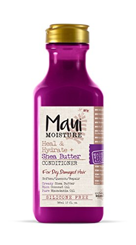Maui Moisture Heal & Hydrate + Shea Butter Conditioner, 13 Ounce, Silicone Free Conditioner with Shea Butter and Coconut Oil, For Softer Feeling Hair with Less Visible Split Ends (Leave Shea Butter)