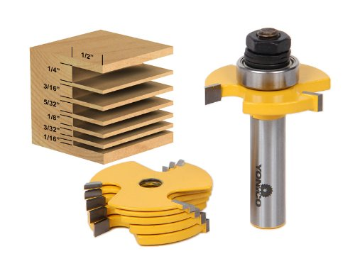 Yonico 14700 6 Kerf Slot Cutter Router Bit Set 1/2-Inch Shank