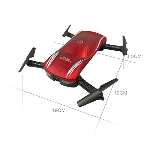 Price comparison product image SUKEQ X185 2.4G 4CH 360° WIFI FPV HD Camera Foldable Portable Altitude Hold Selfie RC Quadcopter Pocket Drone with LED Light