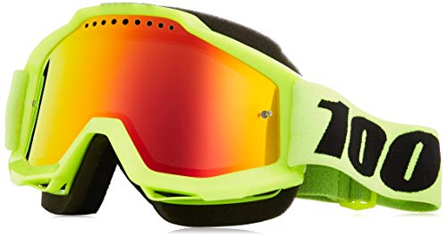 100% 50213-004-02 unisex-adult Goggle (Yellow/Mirror Red,One Size) (ACCURI SNOW ACC SNOW Yellow/Mirror Lens Red)