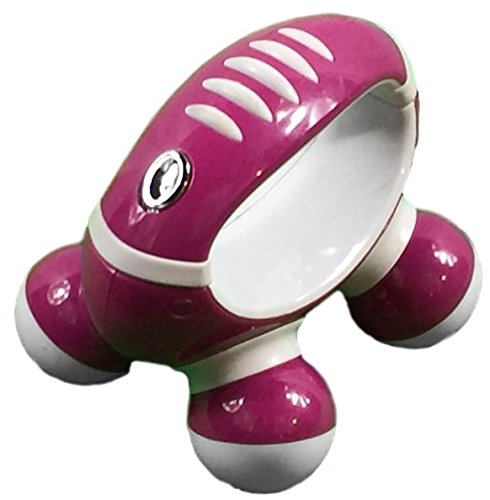 Homedics PM-55 Hand Held Mini Massager with Hand Grip, Battery Operated (Pink)