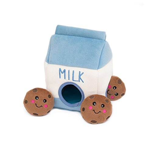 (ZippyPaws ZP859 Milk and Cookies Squeak Toy )