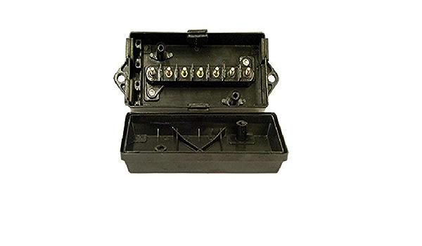 7 pos. Tectran 667-7040 Black Junction Box