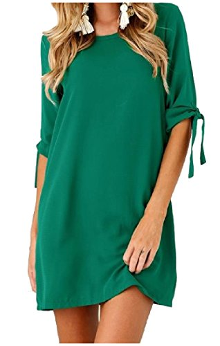 Lace Solid Pullover Coolred Short Women's Crewneck Stylish Green Dress up 6BnPEq