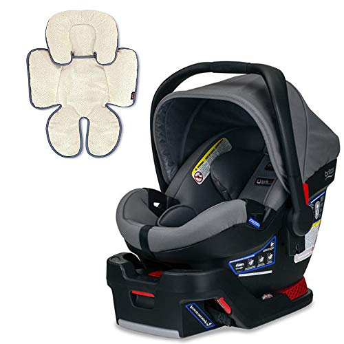 Britax B-Safe Ultra Infant Car Seat, Gris with Support Pillow Bundle