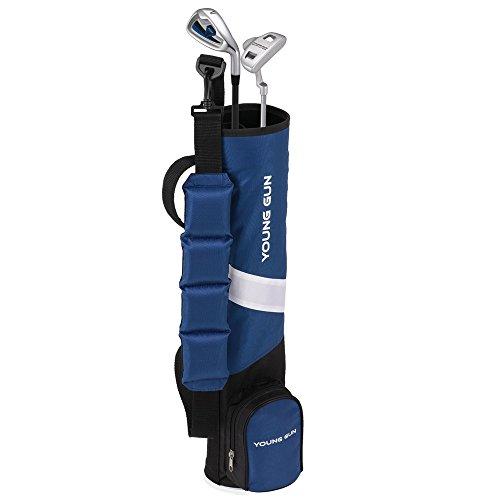 Young Gun ZAAP Birdie Blue Junior Golf Club Youth Set & Bag for Kids Ages 6-8