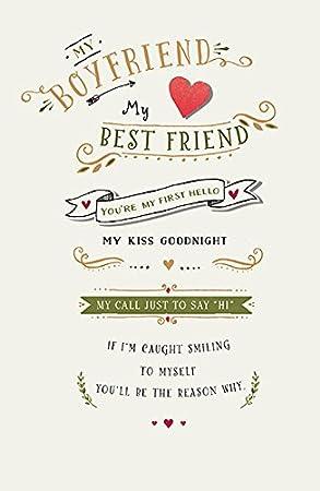 My First Hello Boyfriend Good Night Kiss Sweet Sentiment Valentines