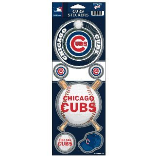 WinCraft MLB Chicago Cubs Prismatic Stickers, Team Color, One Size