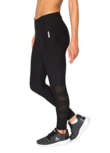 RBX Active Women's Solid Mesh Insert Legging Black M