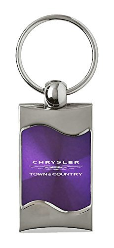 Au-Tomotive Gold Chrysler Town /& Country Rectangular Purple Car Key Chain Ring Fob INC