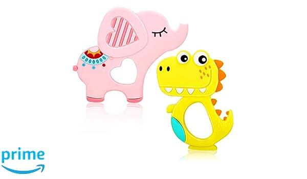 2 Piezas Juguetes de Dentición de Bebé de Silicona Juguetes ...