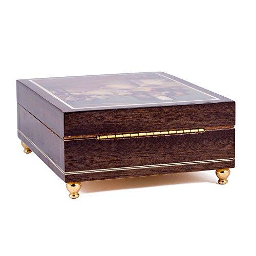 The Swan Lake Op. 20 Ballet Italian Handcrafted Hardwood Jewelry Music Box by Splendid Music Box Co. (Image #4)