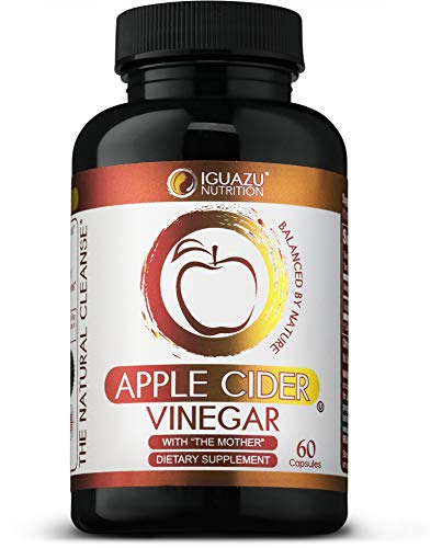 100% Organic Apple Cider Vinegar Capsules with The Mother - Natural Cleanser Supports Weight Loss, Healthy Blood Sugar & Cholesterol Levels, Boosts Energy & Metabolism, Raw Non-GMO, 700mg Pills