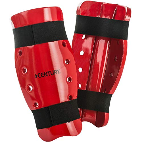 Century Student Sparring SHIN Guards for Children and Adults for Martial Arts Training (Red, Small)