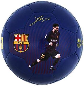 Lionel Messi - Balón de fútbol Oficial del FC Barcelona (Talla 5 ...
