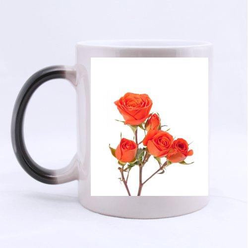 Orange Spray Roses - Orange Spray Roses Custom Mug - Ceramic Morphing Mug - 11 OZ Coffee/Tea Cup