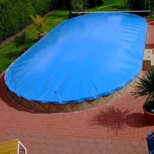 Aufblasbare Abdeckung oval 820 x 420 cm für Pool und ...
