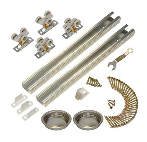 - Johnson Hardware 111SD 96 in. 2-Door Heavy Duty Bypass Track/Hardware Set for 3/4 in. Or Thicker Doors to 150 lbs.