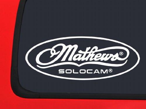 Mathews Solocam Logo'd - Archery - White Hunting window decal sticker