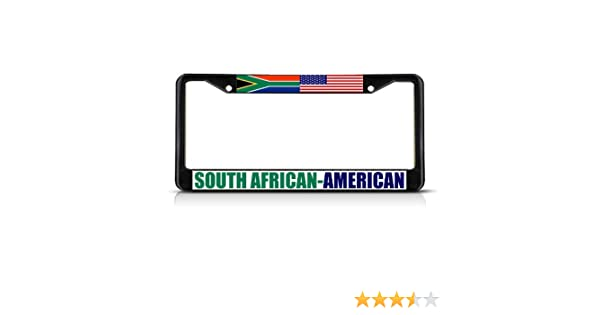 South African American License Plate Frame Tag Holder