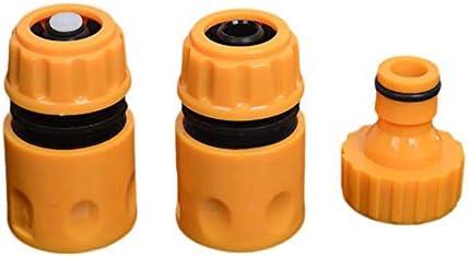3ピース/セットユニバーサルガーデンウォーターホースパイプ継手セット黄色のウォーターホースパイプコネクタアダプタガーデンアクセサリー