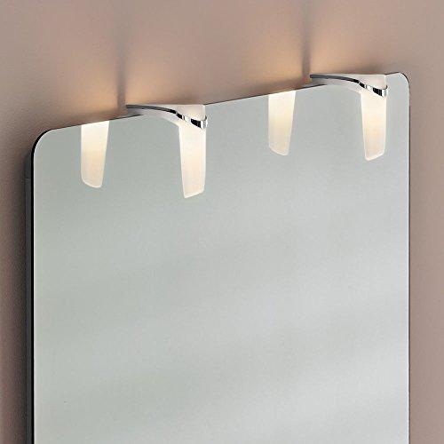 Wonderlamp Sabrina wandlamp, LED, 6 W, chroom, 11,74 x 3,74 x 11,74 cm