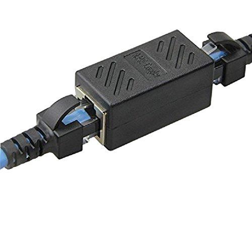 Unshielded In Line Coupler (Duttek RJ45 Female Coupler for Ethernet Cat 5/ CAT 6 LAN Ethernet Cable Extender Straight Modular Inline Coupler)