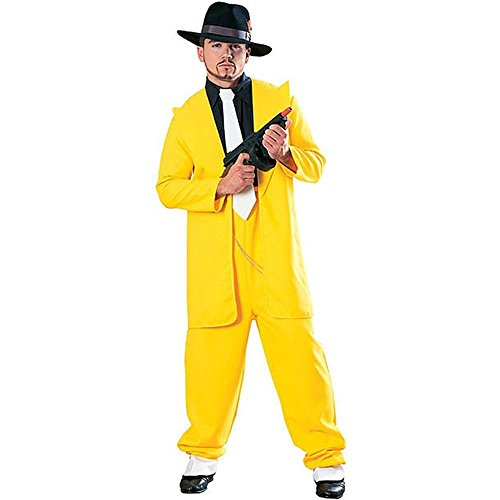Yellow Zoot Suit Costume (Yellow Zoot Suit Gangster Costume - X-Large)