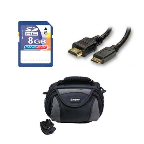 Panasonic HC-V550E Camcorder Accessory Kit includes: KSD48GB Memory Card, SDC-26 Case, HDMI3FM AV & HDMI Cable by Synergy Digital