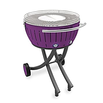 LotusGrill XXL Lila Pãºrpura Barbacoa de Carbón, Purpura, 78X78X48 cm: Amazon.es: Jardín