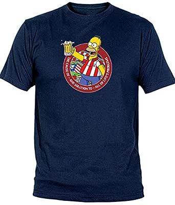 Camiseta Hombre Atletico de Madrid Atleti Camiseta HOMMER Simpson ...