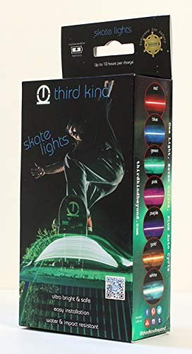 Third Kind Skateboard Longboard Lights. Safe, Fun and The only Lights endorsed by Police for Safety]()