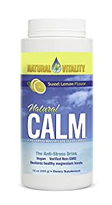 Formulated with right blend of magnesium and calcium, this Natural Vitality Natural Calm Diet Supplement allows you to feel stress free and relaxed! This anti-stress drink helps you calm down your nerves and enter a zone of comfort. Boost your body m...