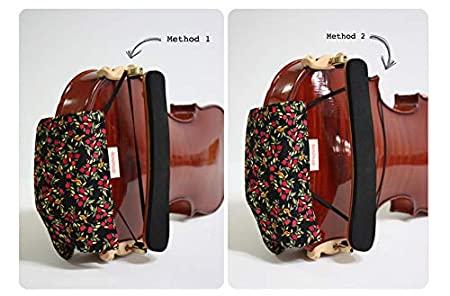 Protects Violin and Viola from Getting Dirty Comfortable Cotton Slip Resistant White3 Relieves Pain Premium Chinrest Cover for Violin and Viola Skin Allergies or Itchiness