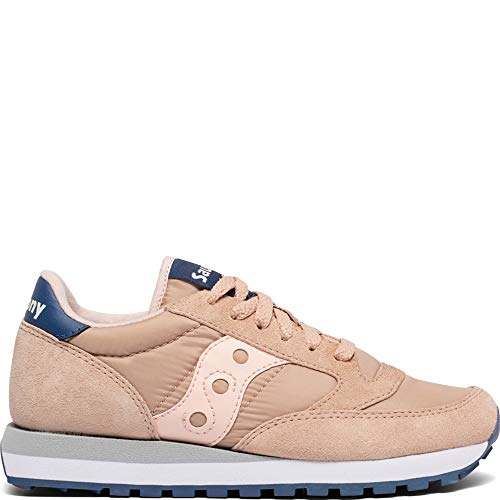 Saucony Originals Women's Jazz Original Sneaker tan/Blush/Blue 8.5 M US