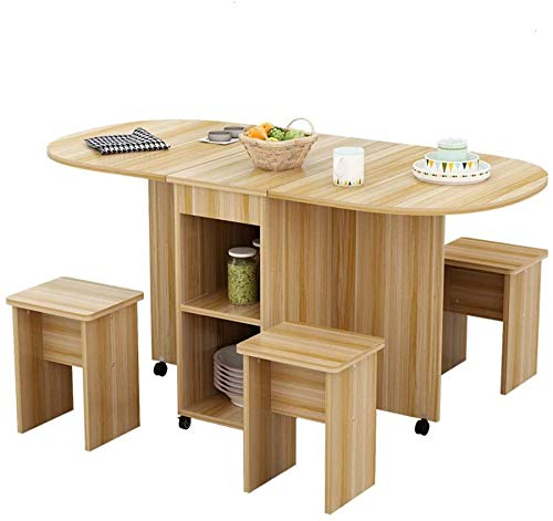 Decoracion Simple Y Creativa Muebles Mesa Extensible de Madera Hogar 4 Personas Circular Movimiento Simple Mesa Plegable Rectangular, Y-Z, B, el 120x78x75cm